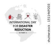 international day for disaster... | Shutterstock .eps vector #1511469203