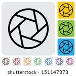 camera lens shutter blades icon ... | Shutterstock . vector #151147373