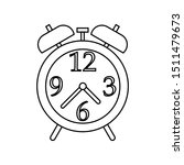 alarm clock icon  black line... | Shutterstock .eps vector #1511479673