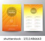 yellow flyer design template....   Shutterstock .eps vector #1511486663