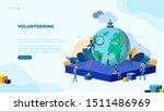 trendy flat illustration.... | Shutterstock .eps vector #1511486969