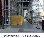 Scaffolding Set Up At A...