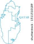 qatar map blue color vector | Shutterstock .eps vector #1511510189