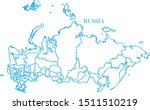 russia map blue color vector | Shutterstock .eps vector #1511510219