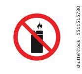 no lighter vector icon ban fire ...