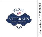veterans day. retro rubber...   Shutterstock .eps vector #1511520809