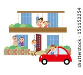 a family and house | Shutterstock .eps vector #151152254