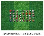 soccer ball in flag with...   Shutterstock .eps vector #1511524436