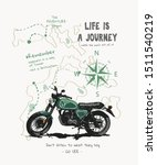 journey slogan with motorcycle... | Shutterstock .eps vector #1511540219