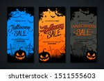halloween sale flyer templates... | Shutterstock .eps vector #1511555603