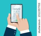 businessman phone dialing... | Shutterstock .eps vector #1511557703
