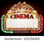 Illustration Of A Cinema Sign...
