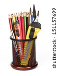 pencils   colorful office and... | Shutterstock . vector #151157699