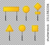 set of yellow road signs... | Shutterstock .eps vector #1511582336