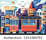 Istanbul Retro Tram Poster With ...