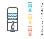 the water package with pump... | Shutterstock .eps vector #1511587736