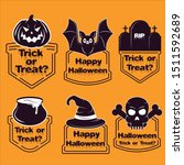halloween sale badges and tags... | Shutterstock .eps vector #1511592689