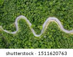 Aerial View Of Countryside Roa...