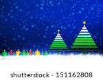 christmas background design | Shutterstock . vector #151162808