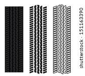 tire tracks vector | Shutterstock .eps vector #151163390