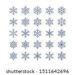 snowflake flat icons set.... | Shutterstock .eps vector #1511642696