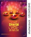 diwali festival banner poster... | Shutterstock .eps vector #1511651840