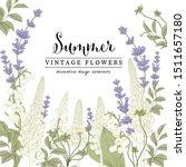 floral botanical illustrations. ... | Shutterstock .eps vector #1511657180