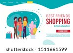 best female friends shopping... | Shutterstock .eps vector #1511661599