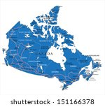 political map of canada | Shutterstock .eps vector #151166378