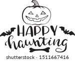 happy haunting decoration for... | Shutterstock .eps vector #1511667416