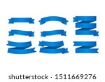 blue ribbons banners. set of... | Shutterstock .eps vector #1511669276
