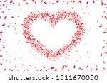 heart confetti isolated white... | Shutterstock .eps vector #1511670050