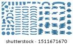 set of 100 ribbons. ribbon... | Shutterstock .eps vector #1511671670