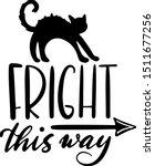 fright this way halloween... | Shutterstock .eps vector #1511677256