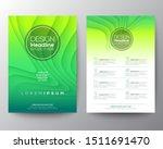 green flyer design template.... | Shutterstock .eps vector #1511691470