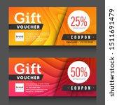 red  yellow gift voucher...   Shutterstock .eps vector #1511691479