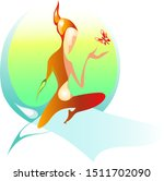 decorative abstract graphic... | Shutterstock .eps vector #1511702090