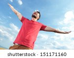 casual young man outdoor...   Shutterstock . vector #151171160