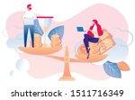 cartoon people money and...   Shutterstock .eps vector #1511716349