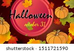 halloween card or party...   Shutterstock .eps vector #1511721590