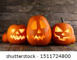 Halloween Pumpkins Head Jack O...