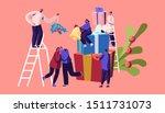 winter festive season ... | Shutterstock .eps vector #1511731073