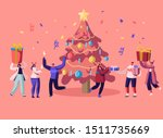 new year bash. happy people... | Shutterstock .eps vector #1511735669
