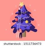 happy characters decorate... | Shutterstock .eps vector #1511736473