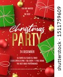 merry christmas party flyer.... | Shutterstock .eps vector #1511759609