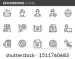 engineering vector line icons... | Shutterstock .eps vector #1511760683