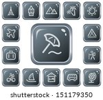 travel button set | Shutterstock .eps vector #151179350