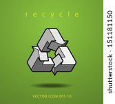 impossible figure recycle icon... | Shutterstock .eps vector #151181150