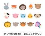 Kawaii Cute Animal Icons. Funny ...