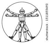 Robot Vitruvian Man Sketch...